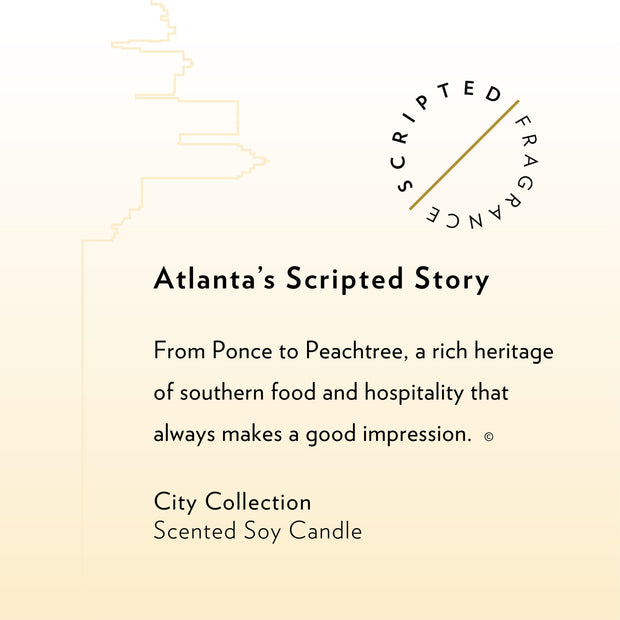 Atlanta City Soy Candle in Large Luxe Gold Tin