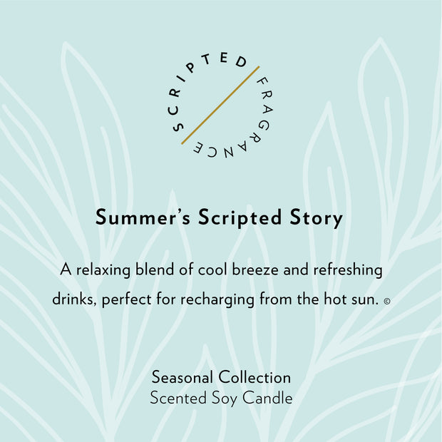 Summer Seasonal Soy Candle in Large Luxe Gold Tin