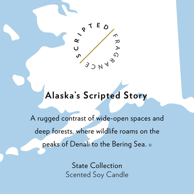 Alaska State Soy Candle in Signature Silhouette Glass