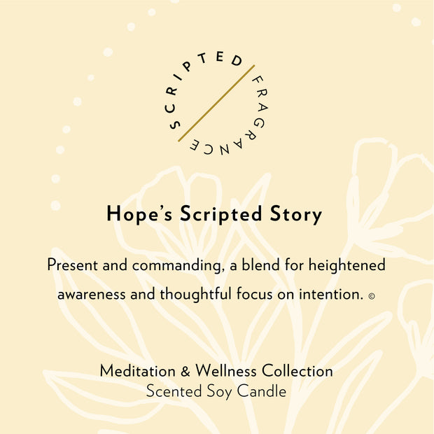 Hope Wellness Meditation Soy Candle in Large Luxe Gold Tin