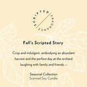 Fall Seasonal Soy Candle in Signature Silhouette Glass