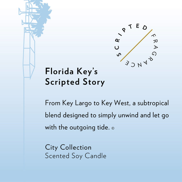 Florida Keys Soy Candle in Signature Silhouette Glass