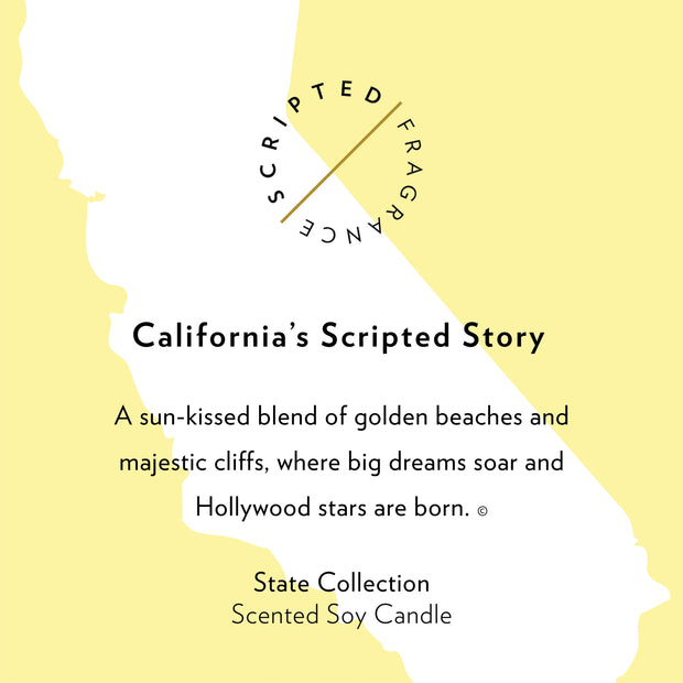 California State Soy Candle in Large Luxe Gold Tin