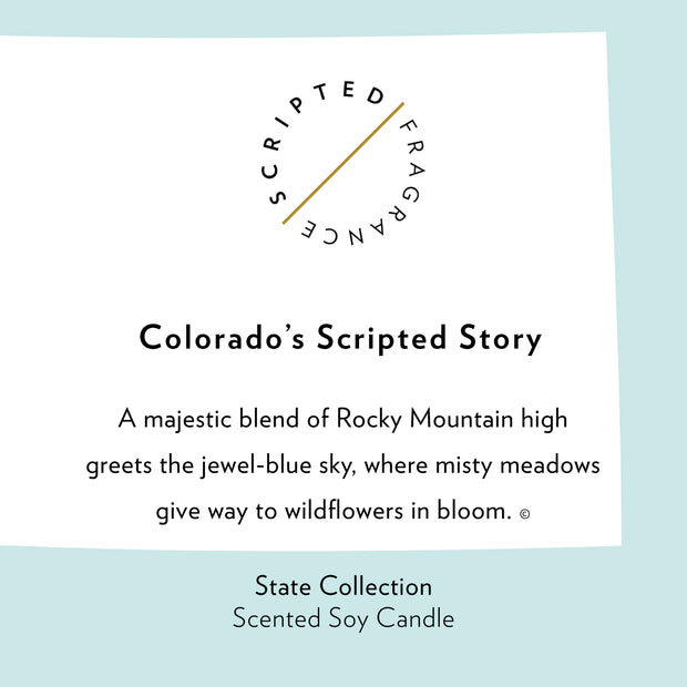Colorado State Soy Candle in Signature Silhouette Glass