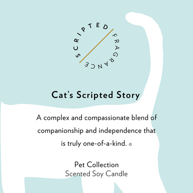 Cat Soy Candle in Large Luxe Gold Tin