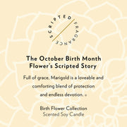 October Birth Month Flower Soy Candle in Large Luxe Gold Tin