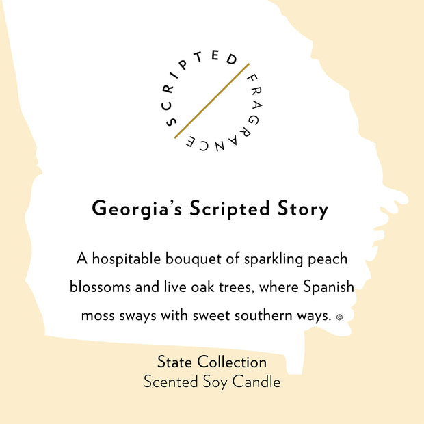 Georgia State Soy Candle in Large Luxe Gold Tin