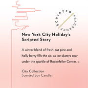 New York City Holiday Soy Candle in Lux Large Gold Tin
