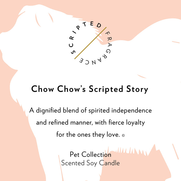 Chow Chow Dog Breed Soy Candle in Signature Silhouette Glass