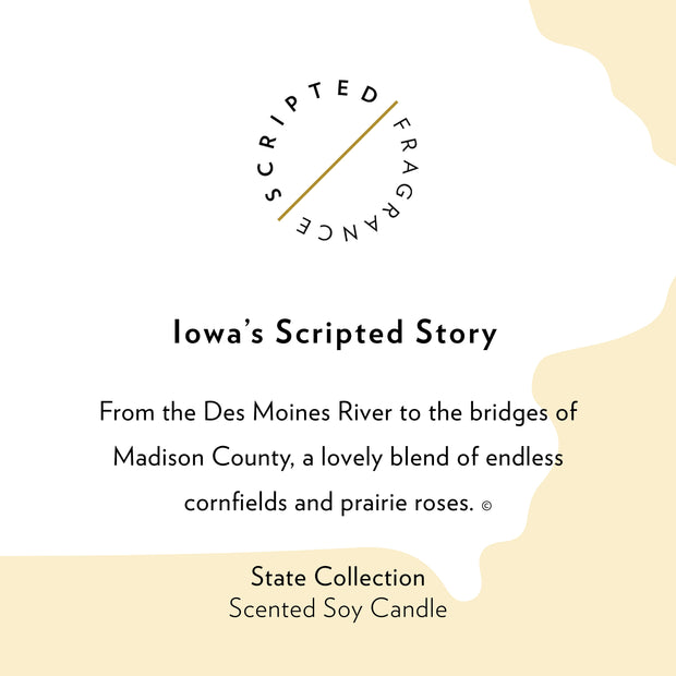 Iowa State Soy Candle in Signature Silhouette Glass