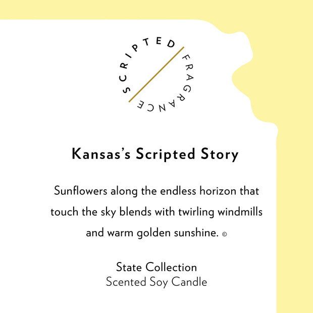 Kansas State Soy Candle in Signature Silhouette Glass