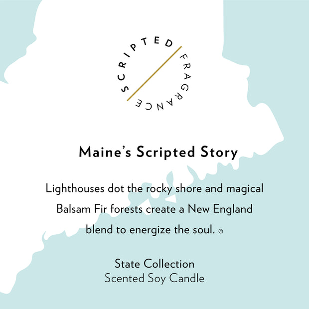 Maine State Soy Candle in Large Luxe Gold Tin
