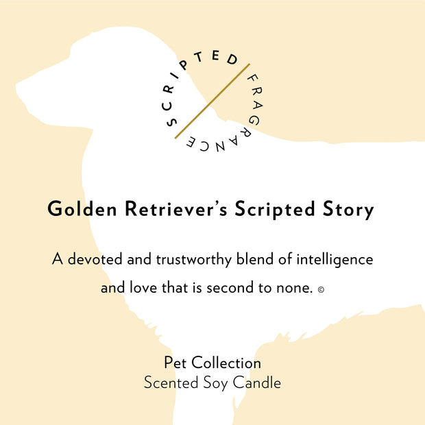 Golden Retriever Dog Breed Soy Candle in Large Luxe Gold Tin