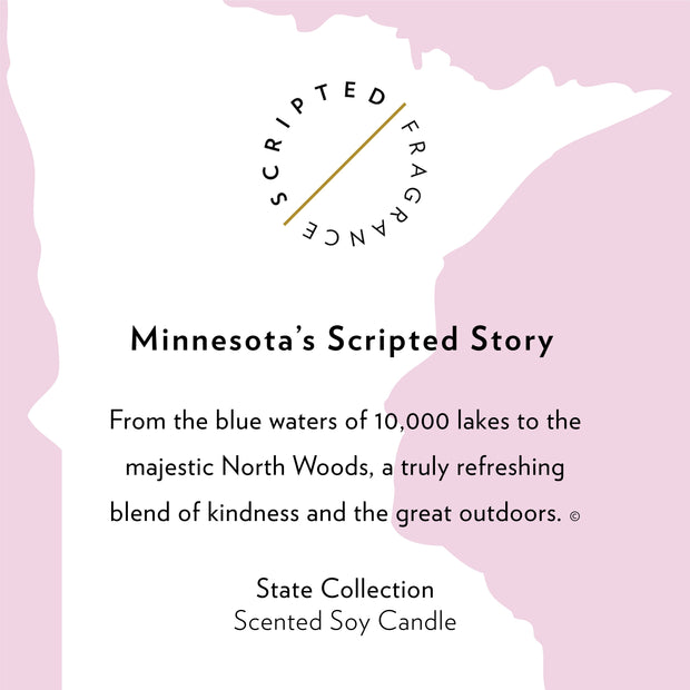 Minnesota State Soy Candle in Large Luxe Gold Tin