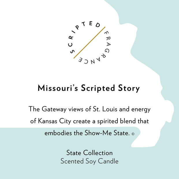 Missouri State Soy Candle in Large Luxe Gold Tin