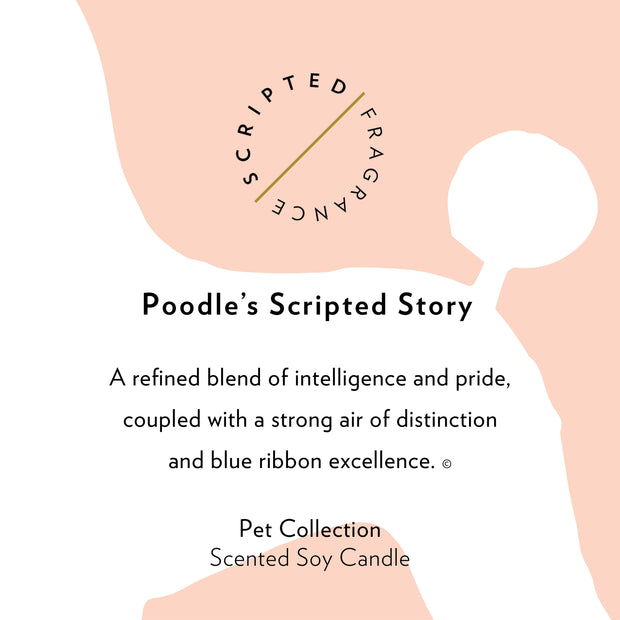 Poodle Dog Breed Soy Candle in Large Luxe Gold Tin