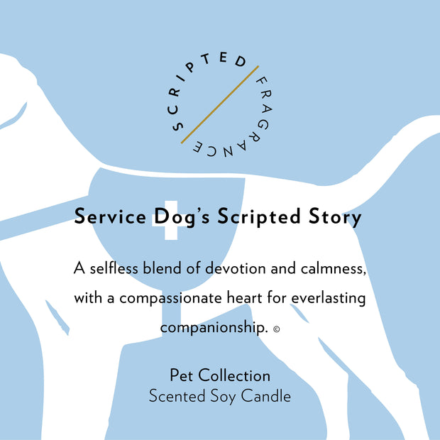 Service Dog Soy Candle in Large Luxe Gold Tin
