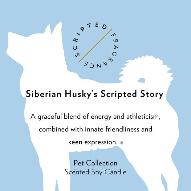 Siberian Husky Dog Soy Candle in Signature Silhouette Glass