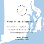 Rhode Island State Soy Candle in Large Luxe Gold Tin