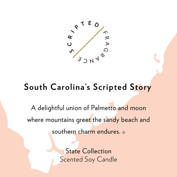 South Carolina State Soy Candle in Large Luxe Gold Tin