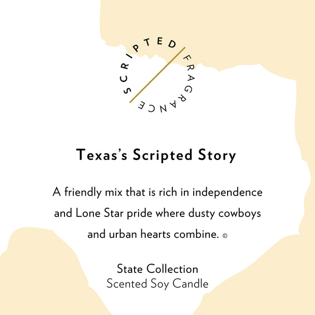 Texas State Soy Candle in Signature Silhouette Glass