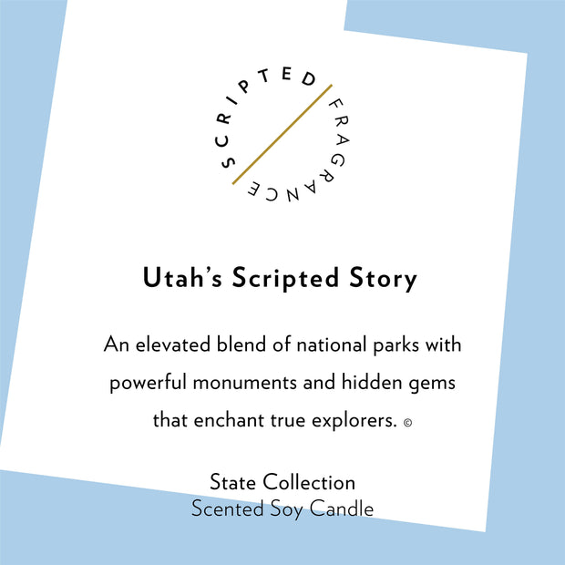 Utah State Soy Candle in Signature Silhouette Glass
