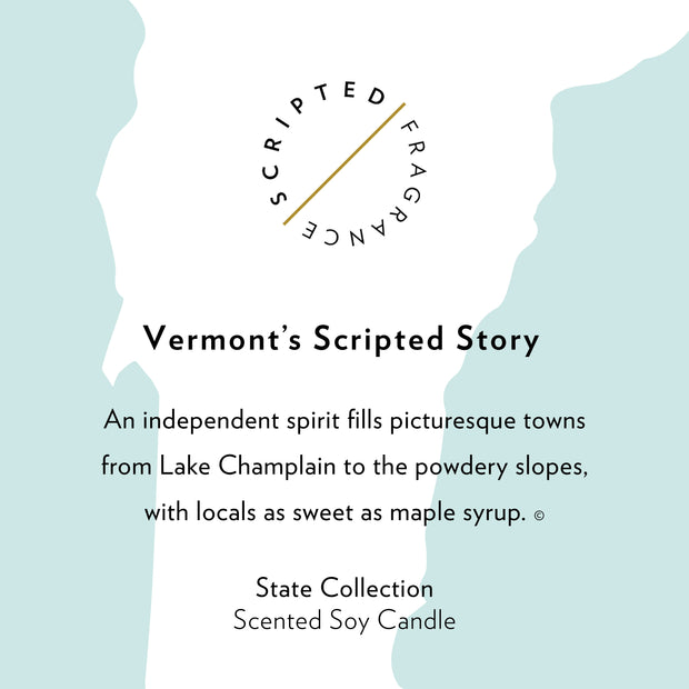 Vermont State Soy Candle in Large Luxe Gold Tin