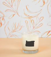 Oregon State Soy Candle with Signature Silhouette Glass