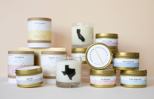 Alabama State Soy Candle with Large Gold Tin