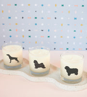 Havanese Dog Soy Candle in Signature Silhouette Glass