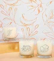 January Birth Month Flower Soy Candle with Signature Silhouette Glass
