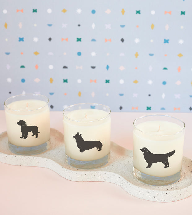 Corgi Dog Breed Soy Candle in Signature Silhouette Glass