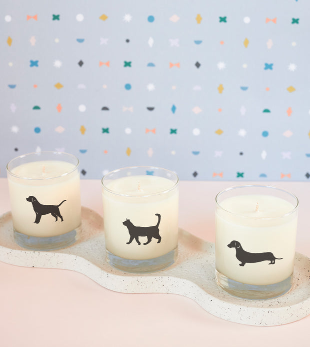 Dachshund Dog Breed Soy Candle in Signature Silhouette Glass