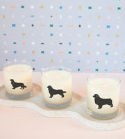 Australian Shepherd Dog Breed Soy Candle in Signature Silhouette Glass