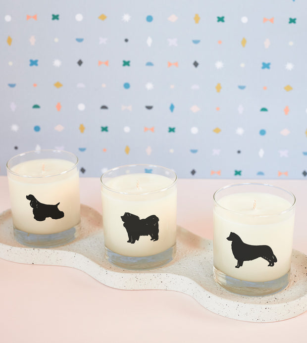 Cocker Spaniel Dog Breed Soy Candle in Signature Silhouette Glass