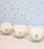 Hope Wellness Meditation Soy Candle in Signature Silhouette Glass