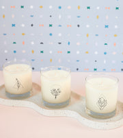 Mindfulness Wellness Meditation Soy Candle in Signature Silhouette Glass