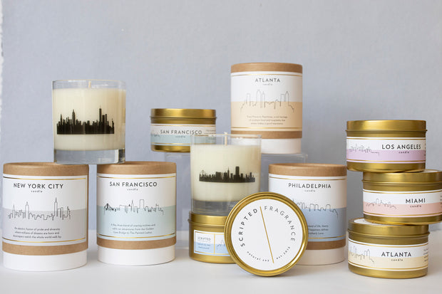 Philadelphia City Soy Candle in Large Luxe Gold Tin
