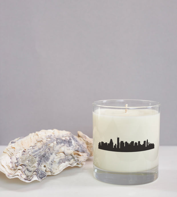 Boston City Soy Candle in Signature Silhouette Glass