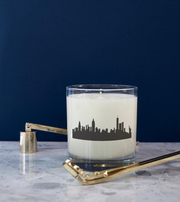 New York City Holiday Soy Candle in Signature Silhouette Glass