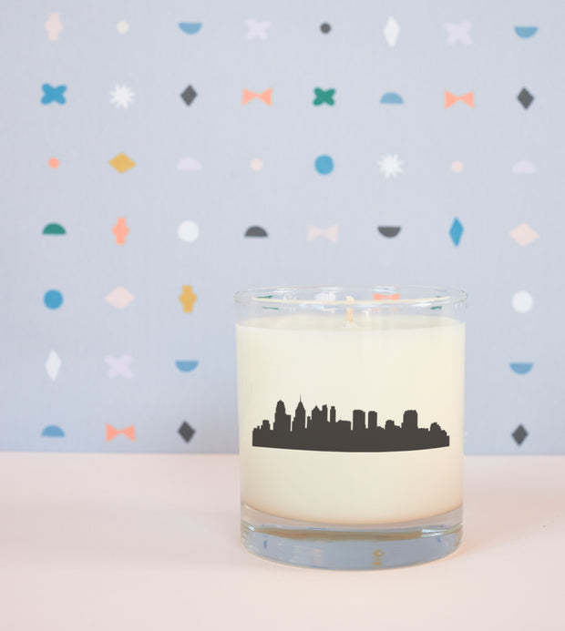 Philadelphia City Soy Candle in Signature Silhouette Glass