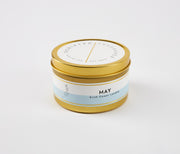 May Birth Month Flower Soy Candle in Large Luxe Gold Tin