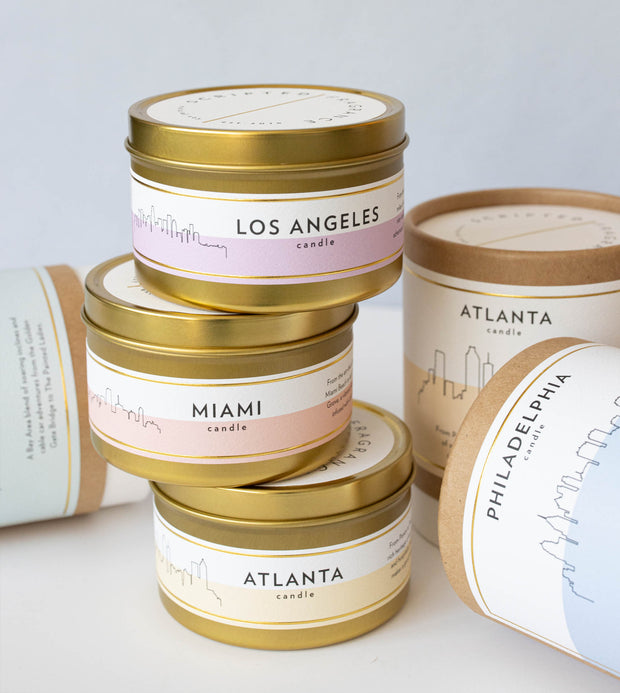 Miami City Soy Candle in Lux Large Gold Tin