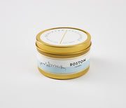 Boston City Soy Candle in Large Luxe Gold Tin