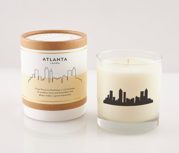 Atlanta City Soy Candle in Signature Silhouette Glass