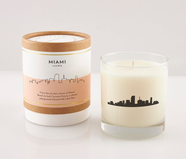 Miami City Soy Candle in Signature Silhouette Glass
