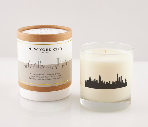 New York City Soy Candle in Signature Silhouette Glass