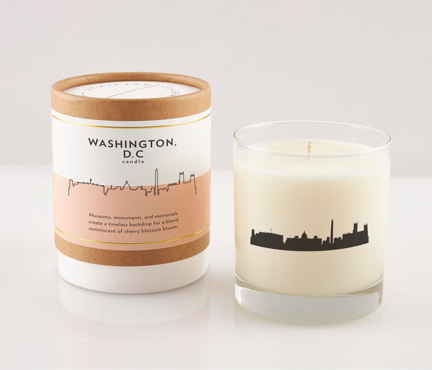 Washington, D.C. Soy Candle in Signature Silhouette Glass