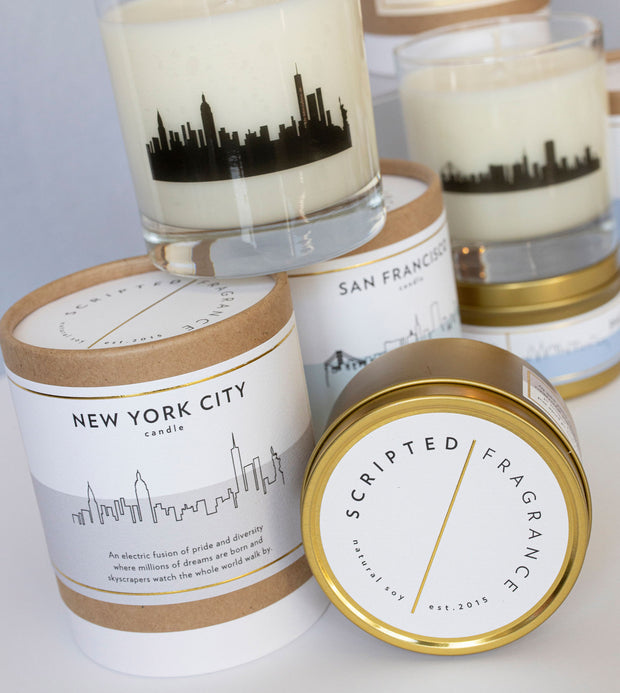 New York City Soy Candle in Large Luxe Gold Tin