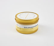 Goldendoodle Dog Breed Soy Candle in Large Luxe Gold Tin